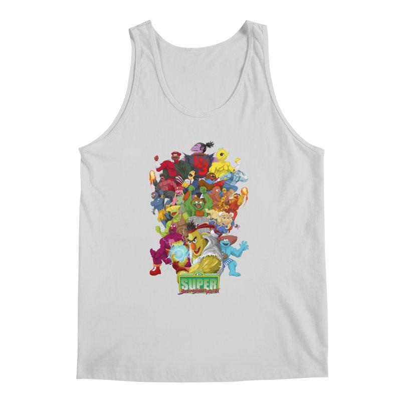 Super Sesame Street Fighter Men's Tank by GabachoTrece's Artist Shop
