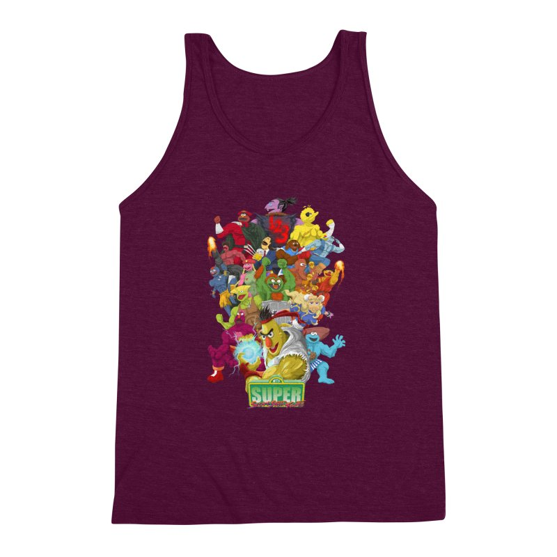 Super Sesame Street Fighter Men's Triblend Tank by GabachoTrece's Artist Shop