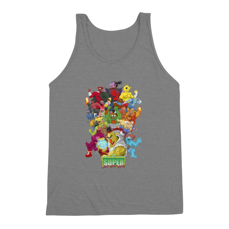 Super Sesame Street Fighter Men's Triblend Tank by GabachoTrece's Artist Shop