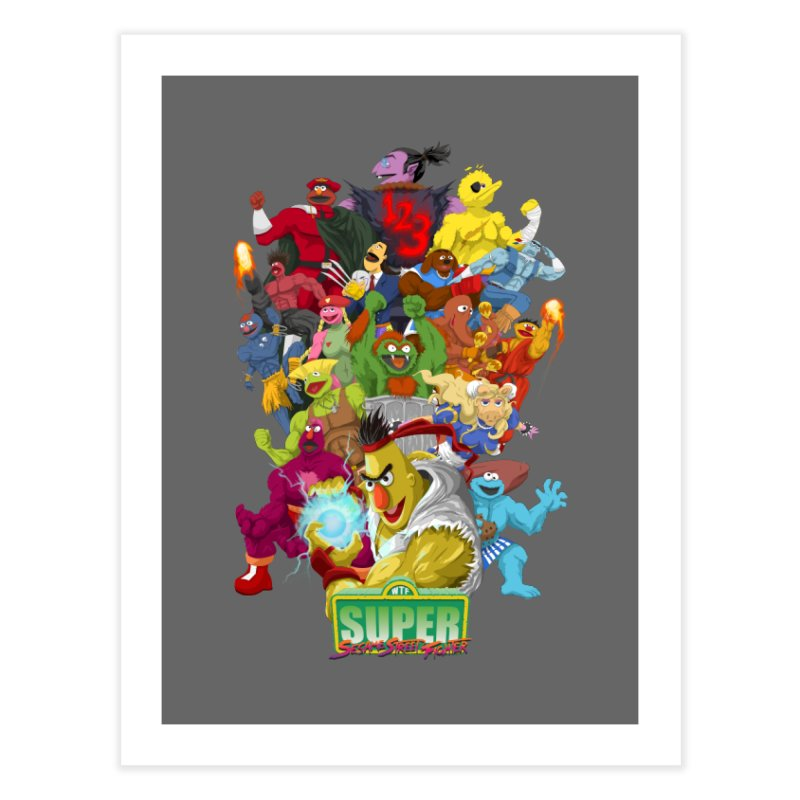 Super Sesame Street Fighter Home Fine Art Print by GabachoTrece's Artist Shop