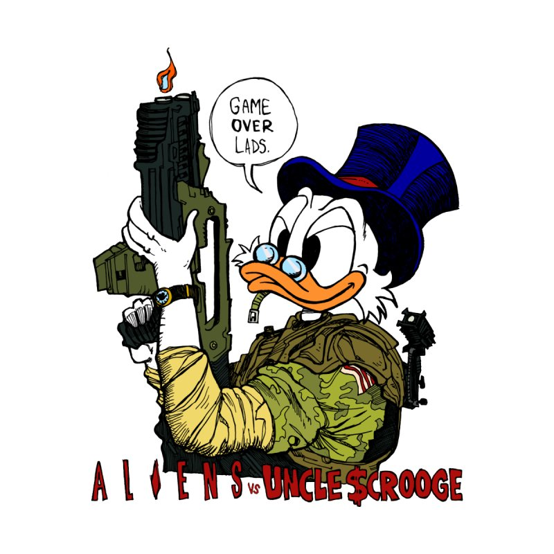 Aliens VS Uncle Scrooge   by Gabe Ostley's Artist Shop