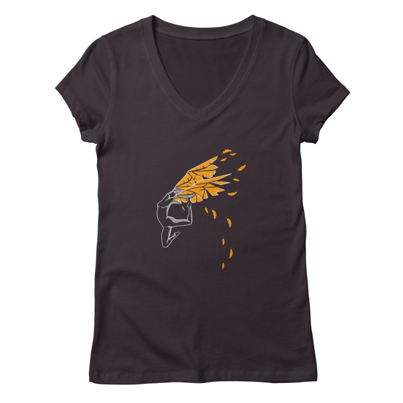 Dance & fly Women's V-Neck by Amit's Artist Shop