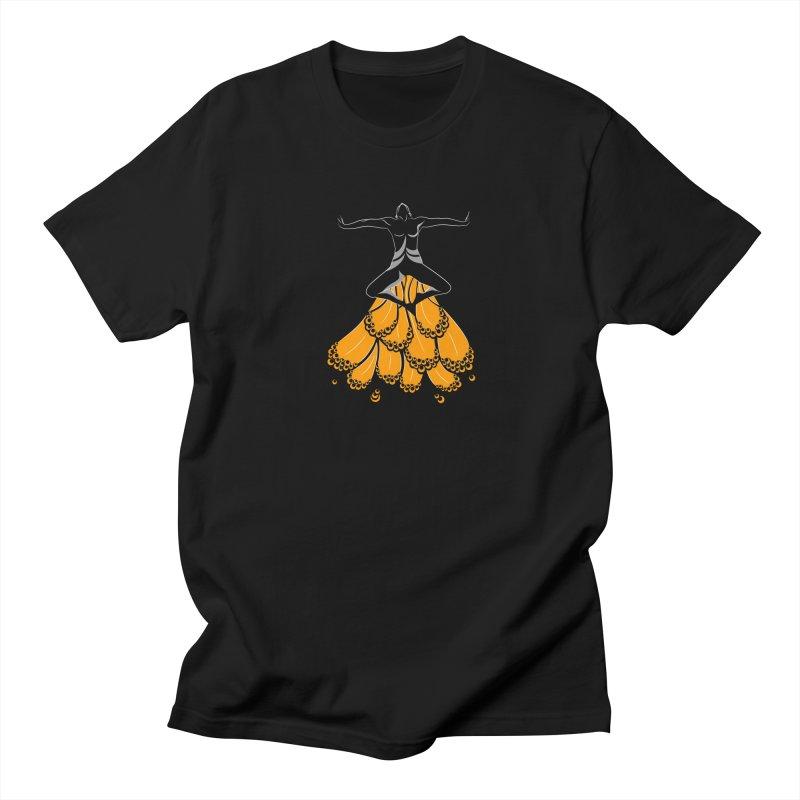 Peacock Dancer Men's Regular T-Shirt by Amit's Artist Shop