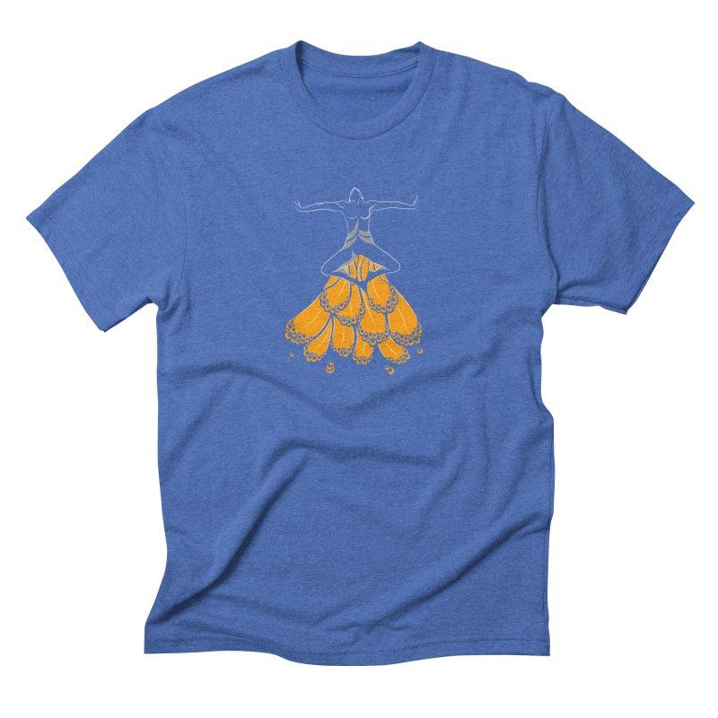 Peacock Dancer Men's Triblend T-Shirt by Amit's Artist Shop