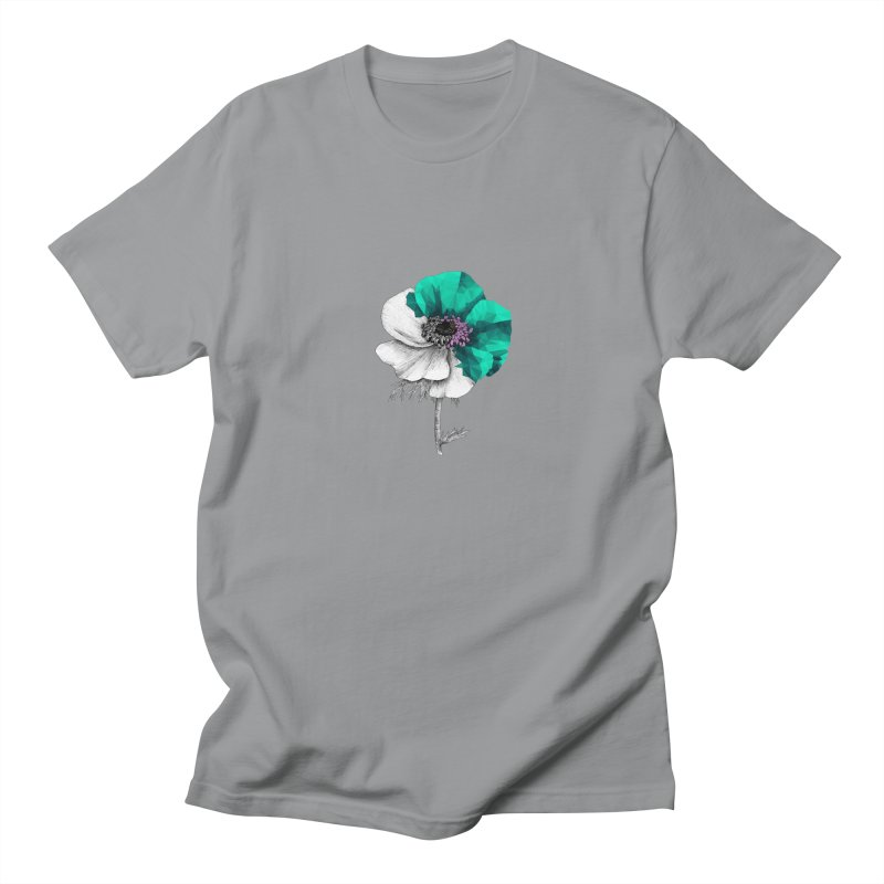 Poppy - Half & Half Men's Regular T-Shirt by Amit's Artist Shop