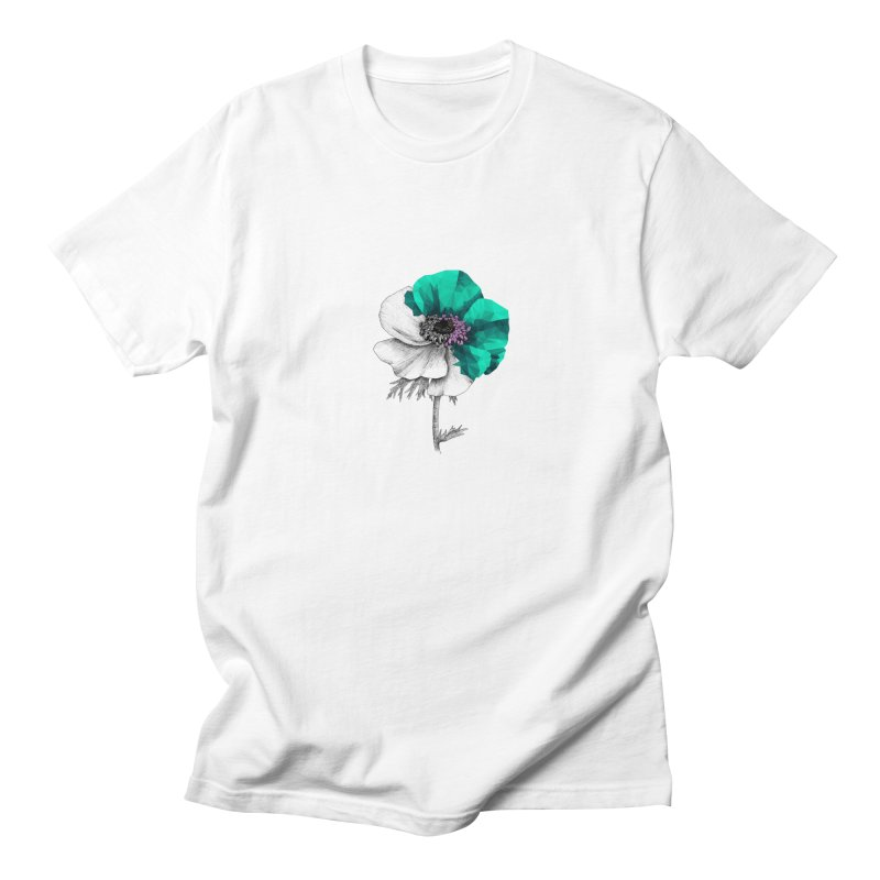 Poppy - Half & Half Men's T-Shirt by Amit's Artist Shop