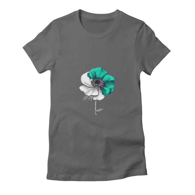 Poppy - Half & Half Women's T-Shirt by Amit's Artist Shop