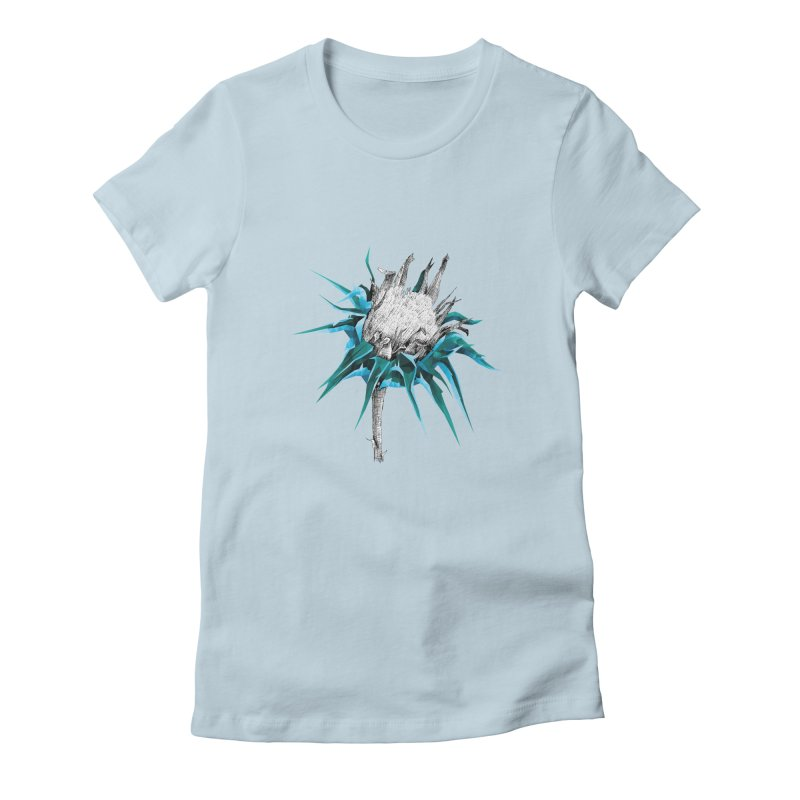 Centaurea - Half & Half Women's Fitted T-Shirt by Amit's Artist Shop