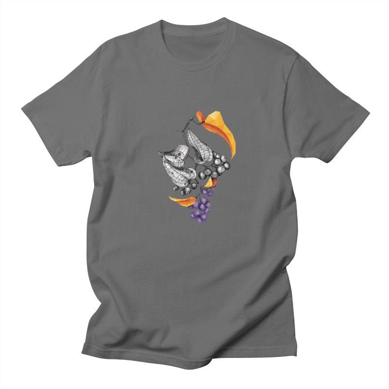 Rough Bindweed - Half & Half Men's T-Shirt by Amit's Artist Shop
