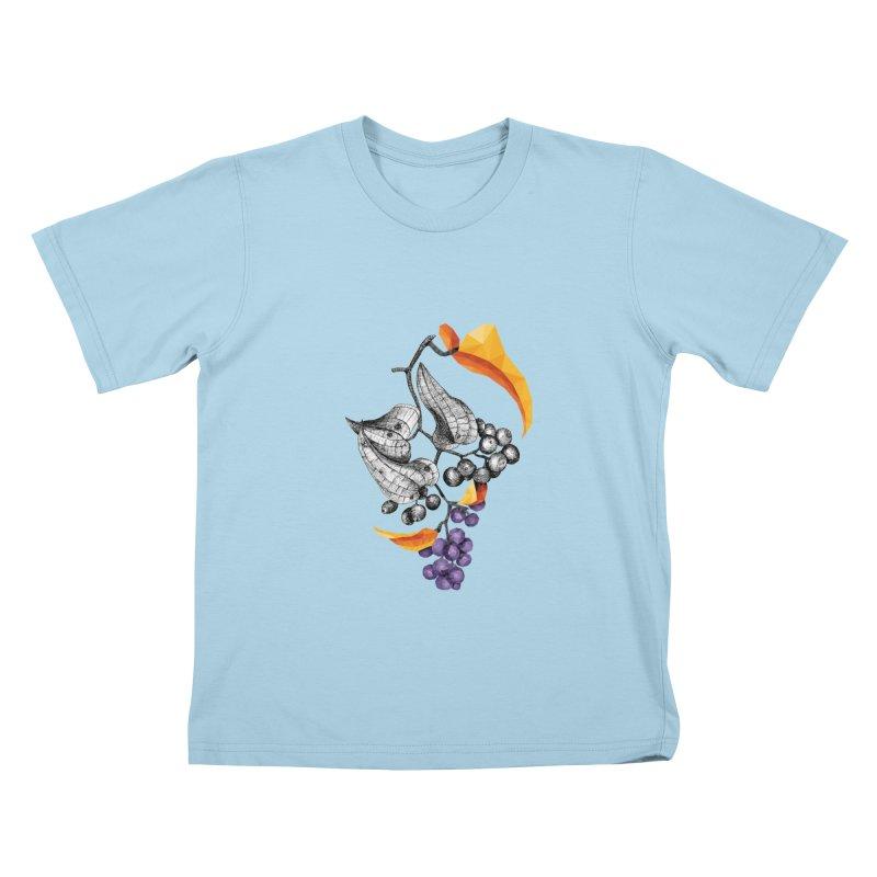 Rough Bindweed - Half & Half Kids T-Shirt by Amit's Artist Shop