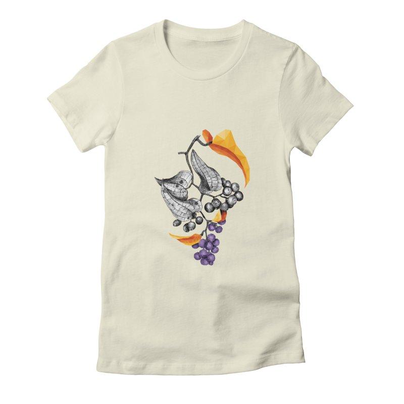 Rough Bindweed - Half & Half Women's Fitted T-Shirt by Amit's Artist Shop