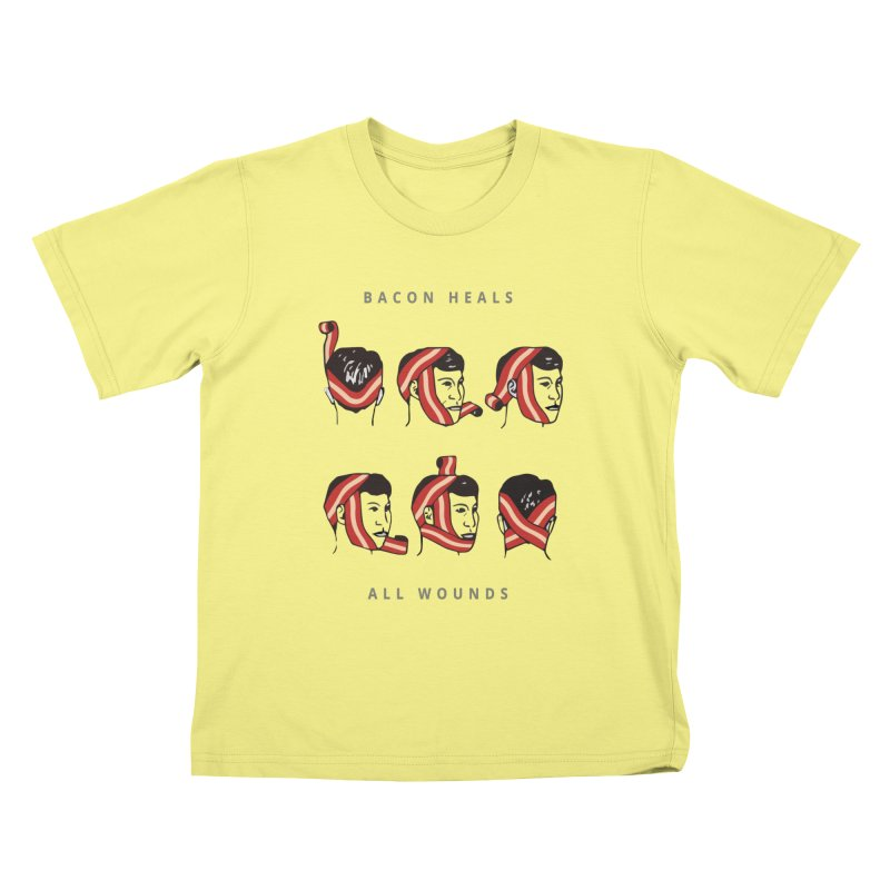 Bacon Heals Kids T-shirt by Gamble's Artist Shop