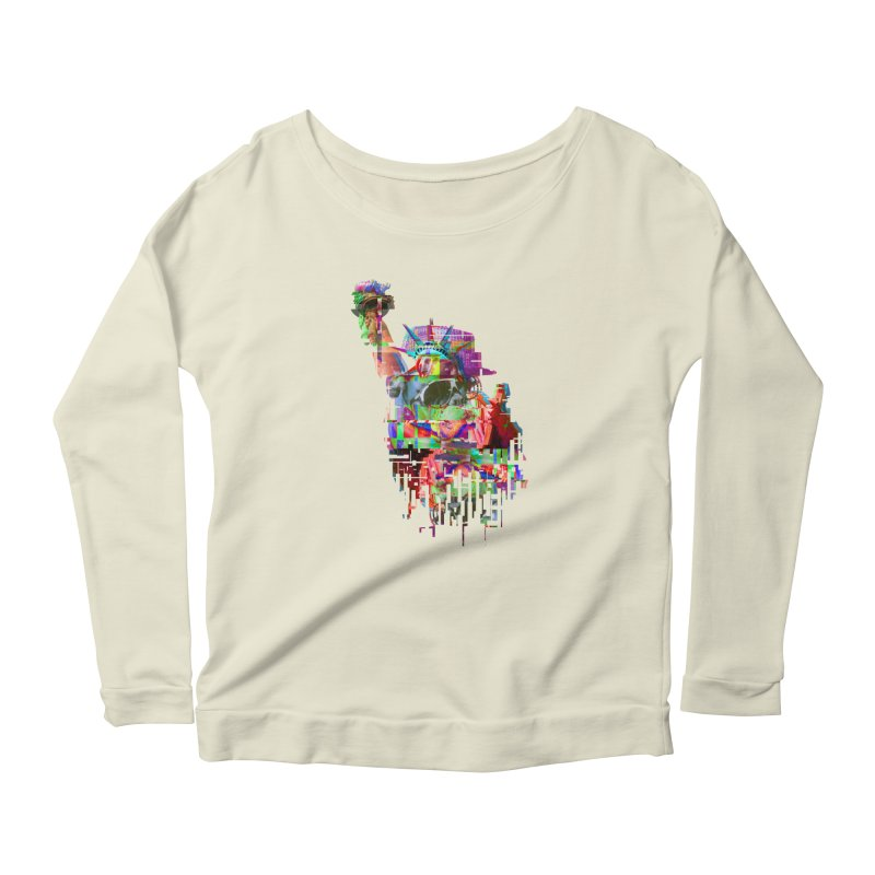Understanding Liberty Women's Longsleeve Scoopneck  by Gamble's Artist Shop