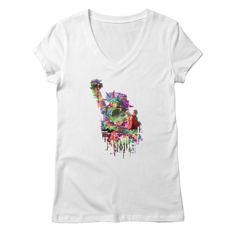 Understanding Liberty Women's V-Neck by Gamble's Artist Shop