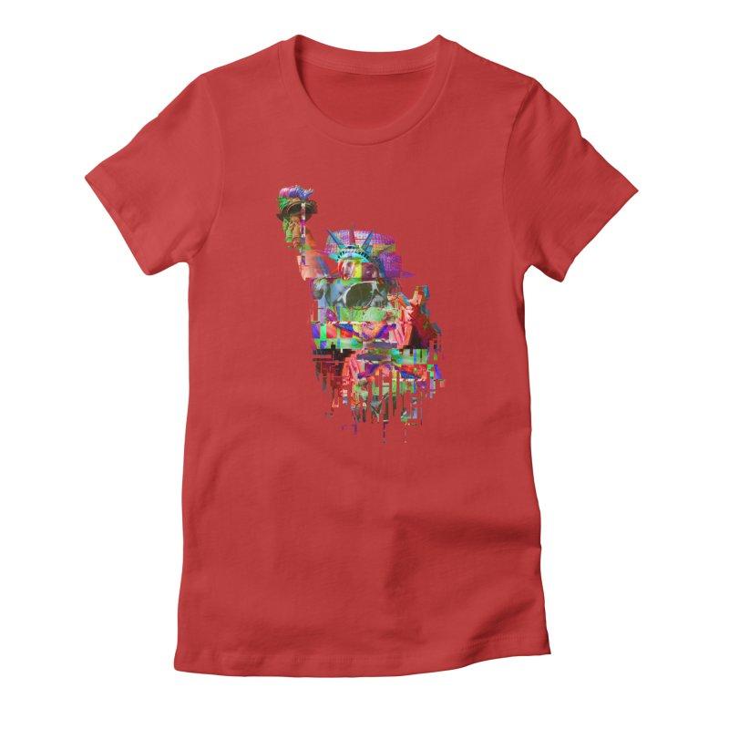 Understanding Liberty Women's Fitted T-Shirt by Gamble's Artist Shop