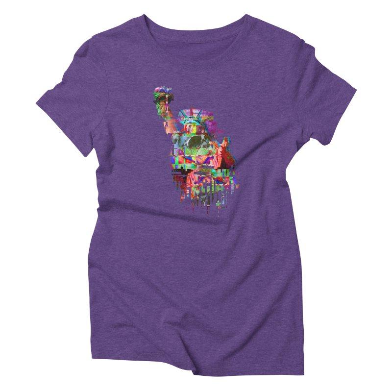 Understanding Liberty Women's Triblend T-Shirt by Gamble's Artist Shop