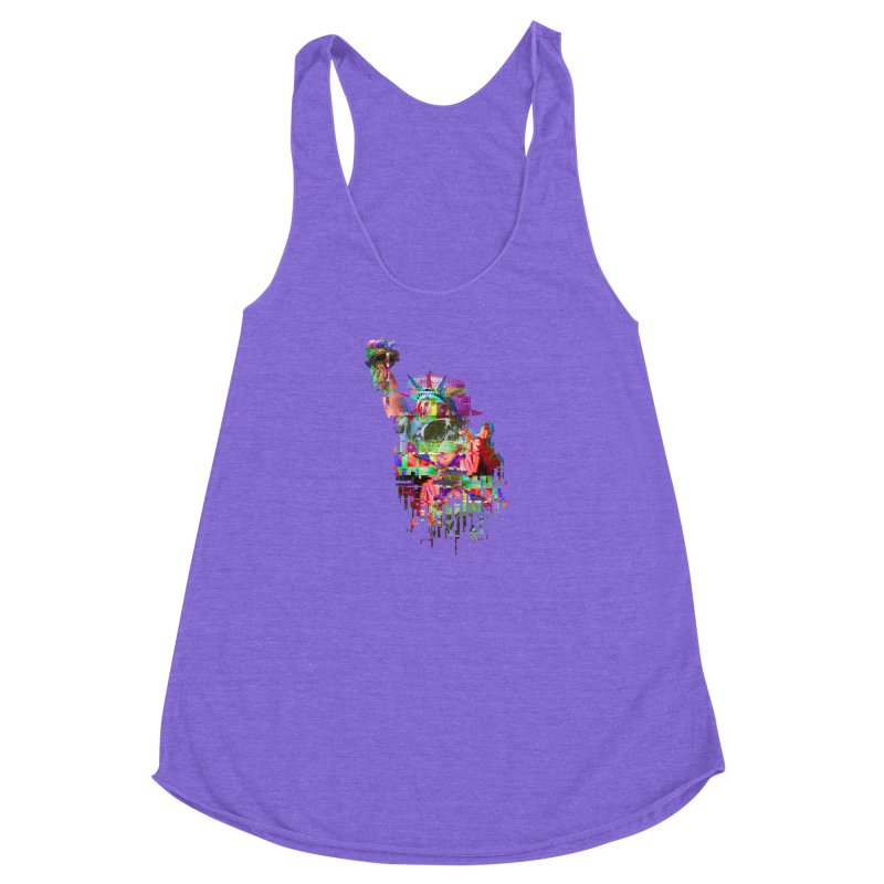 Understanding Liberty Women's Racerback Triblend Tank by Gamble's Artist Shop