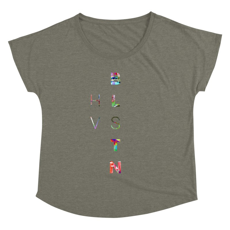 BLSTNHVSMINGLTCH Women's Dolman Scoop Neck by Gamble's Artist Shop