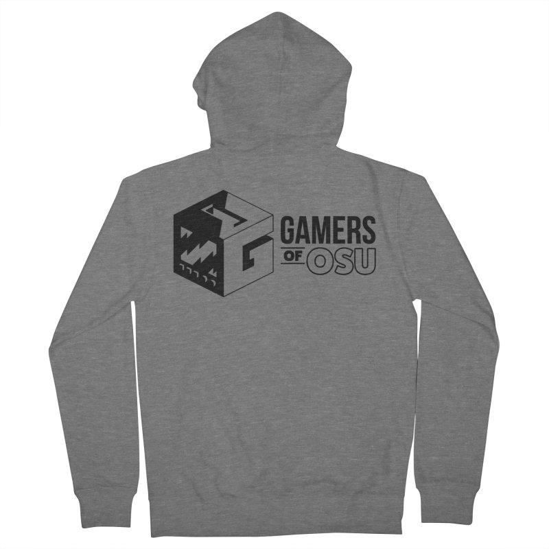 Gamers of OSU (Black Logo) Men's Zip-Up Hoody by GamersOfOSU's Artist Shop