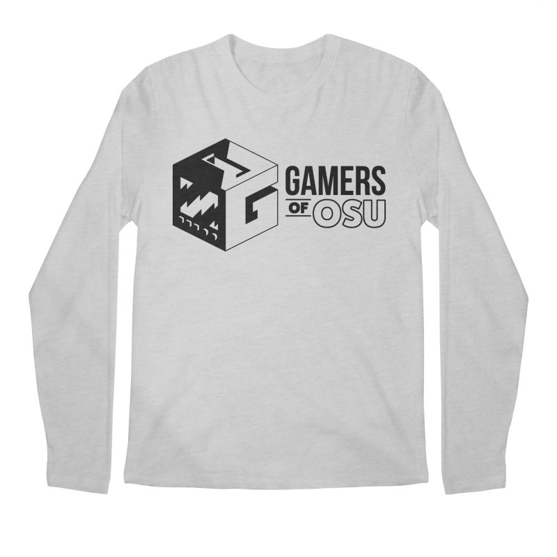 Gamers of OSU (Black Logo) Men's Longsleeve T-Shirt by GamersOfOSU's Artist Shop