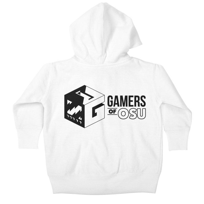 Gamers of OSU (Black Logo) Kids Baby Zip-Up Hoody by GamersOfOSU's Artist Shop