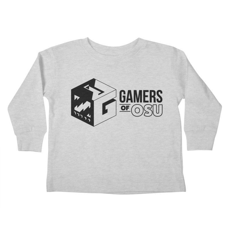 Gamers of OSU (Black Logo) Kids Toddler Longsleeve T-Shirt by GamersOfOSU's Artist Shop