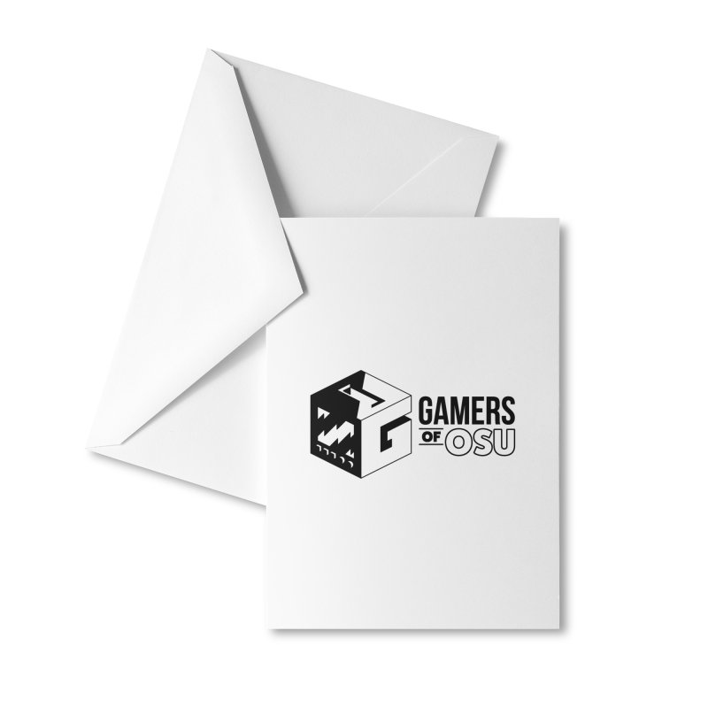 Gamers of OSU (Black Logo) Accessories Greeting Card by GamersOfOSU's Artist Shop