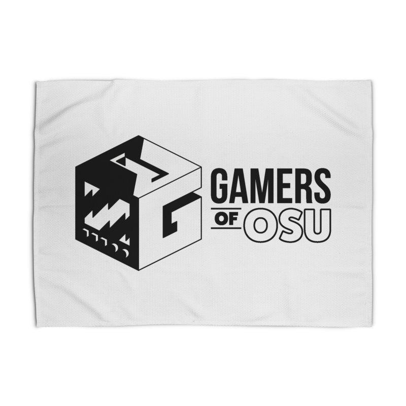 Gamers of OSU (Black Logo) Home Rug by GamersOfOSU's Artist Shop