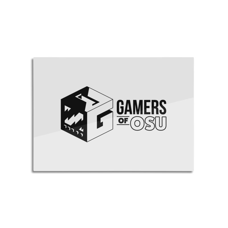 Gamers of OSU (Black Logo) Home Mounted Aluminum Print by GamersOfOSU's Artist Shop