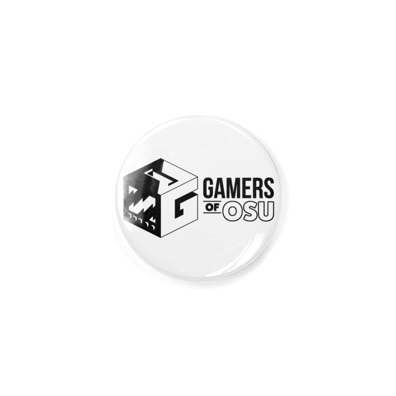 Gamers of OSU (Black Logo) Accessories Button by GamersOfOSU's Artist Shop