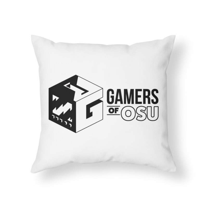 Gamers of OSU (Black Logo) Home Throw Pillow by GamersOfOSU's Artist Shop