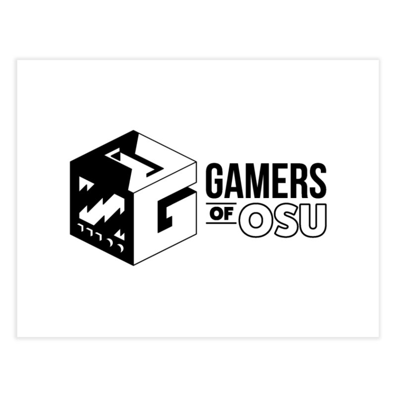 Gamers of OSU (Black Logo) Home Fine Art Print by GamersOfOSU's Artist Shop