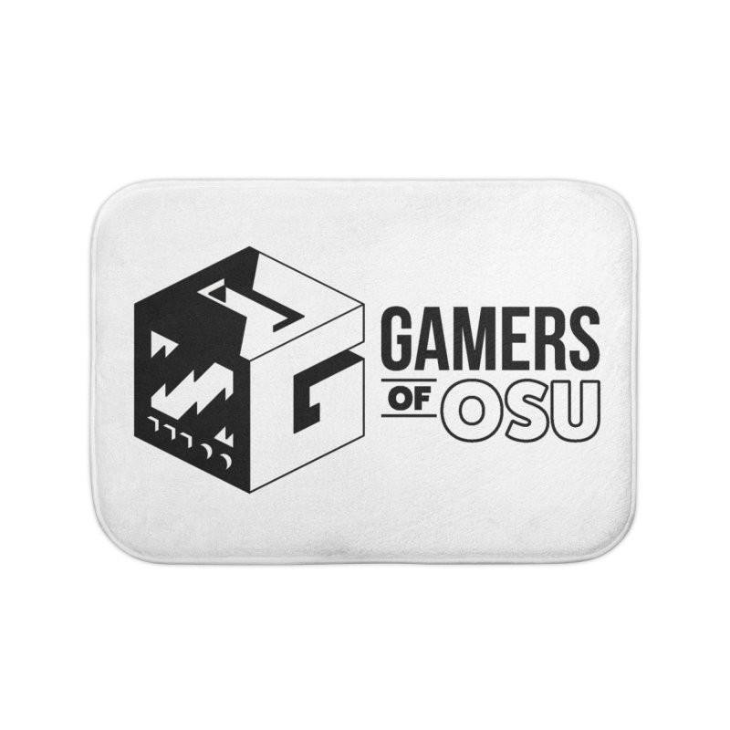 Gamers of OSU (Black Logo) Home Bath Mat by GamersOfOSU's Artist Shop