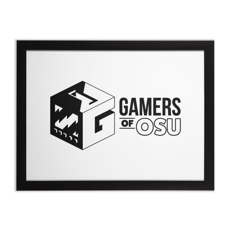 Gamers of OSU (Black Logo) Home Framed Fine Art Print by GamersOfOSU's Artist Shop