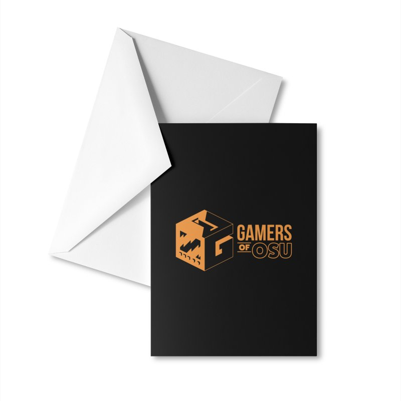 Gamers of OSU (Orange Logo) Accessories Greeting Card by GamersOfOSU's Artist Shop