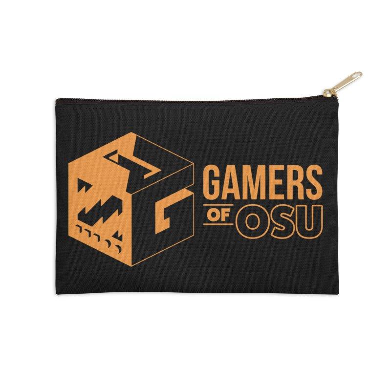 Gamers of OSU (Orange Logo) Accessories Zip Pouch by GamersOfOSU's Artist Shop