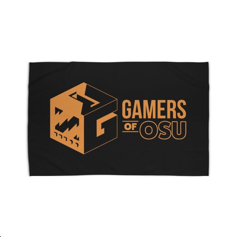 Gamers of OSU (Orange Logo) Home Rug by GamersOfOSU's Artist Shop