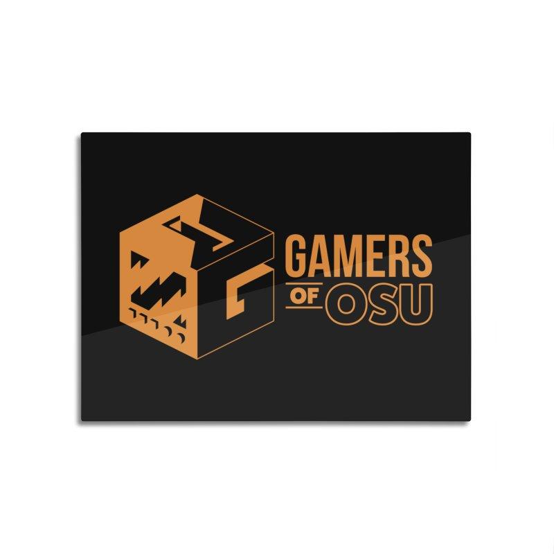 Gamers of OSU (Orange Logo) Home Mounted Aluminum Print by GamersOfOSU's Artist Shop