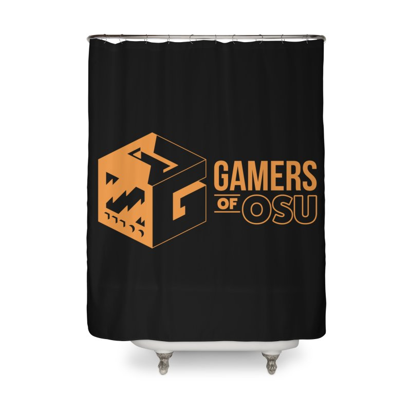 Gamers of OSU (Orange Logo) Home Shower Curtain by GamersOfOSU's Artist Shop