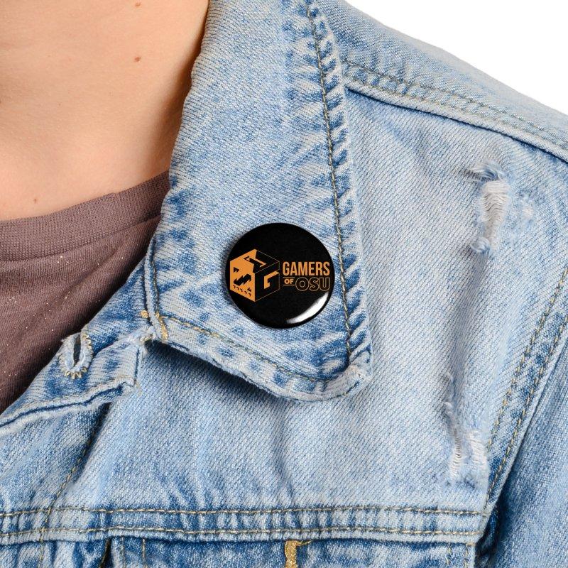 Gamers of OSU (Orange Logo) Accessories Button by GamersOfOSU's Artist Shop
