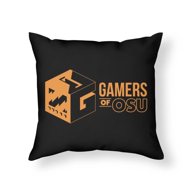 Gamers of OSU (Orange Logo) Home Throw Pillow by GamersOfOSU's Artist Shop