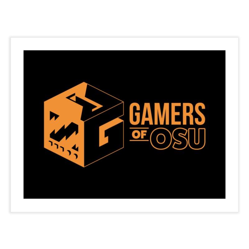 Gamers of OSU (Orange Logo) Home Fine Art Print by GamersOfOSU's Artist Shop