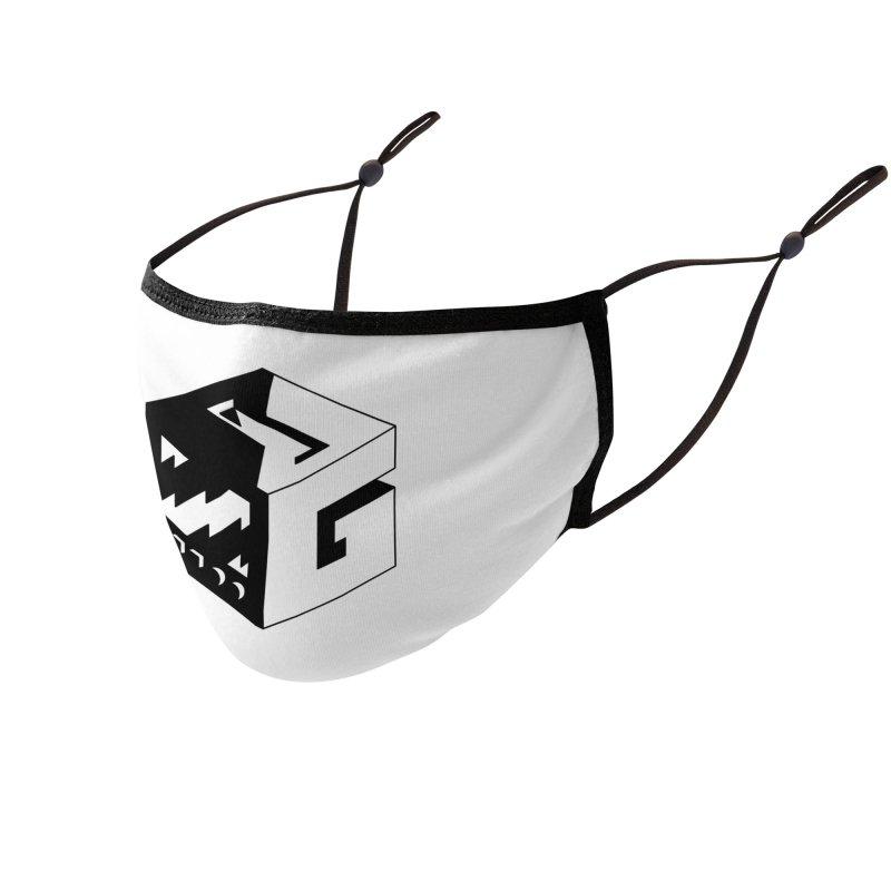 GOSU Cube (Black Logo) Accessories Face Mask by GamersOfOSU's Artist Shop
