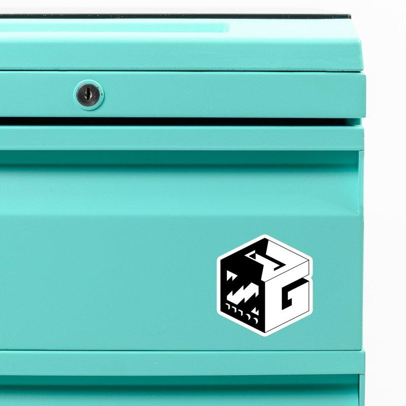 GOSU Cube (Black Logo) Accessories Magnet by GamersOfOSU's Artist Shop