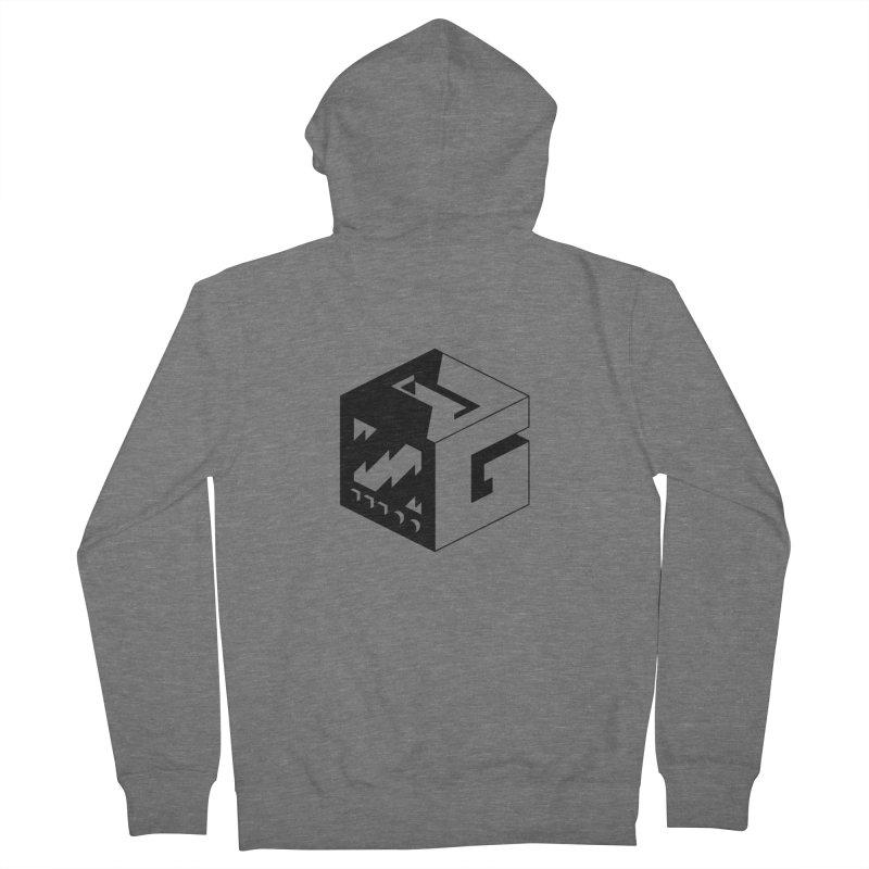 GOSU Cube (Black Logo) Men's Zip-Up Hoody by GamersOfOSU's Artist Shop