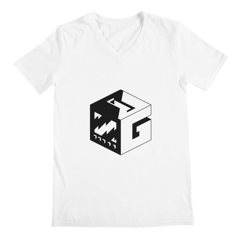 GOSU Cube (Black Logo) Men's V-Neck by GamersOfOSU's Artist Shop