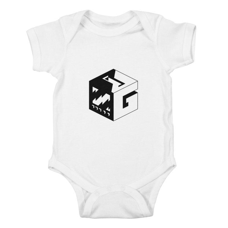 GOSU Cube (Black Logo) Kids Baby Bodysuit by GamersOfOSU's Artist Shop