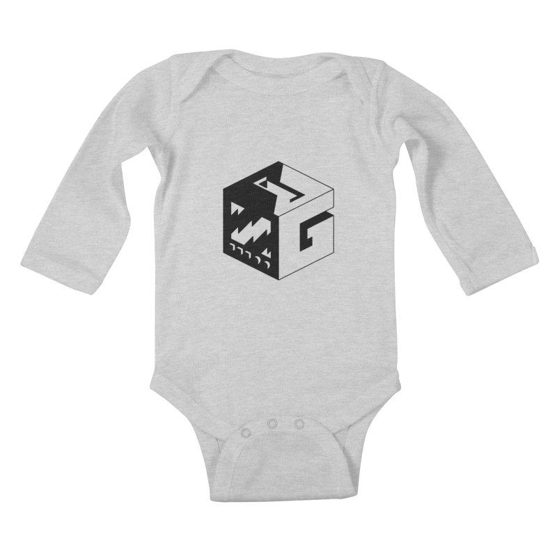 GOSU Cube (Black Logo) Kids Baby Longsleeve Bodysuit by GamersOfOSU's Artist Shop