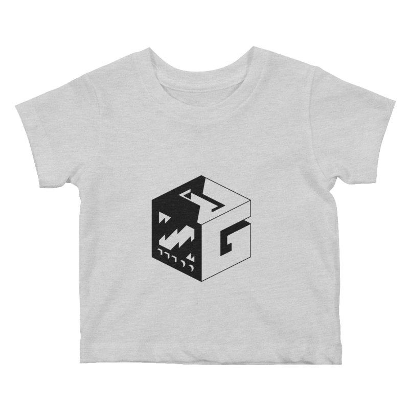 GOSU Cube (Black Logo) Kids Baby T-Shirt by GamersOfOSU's Artist Shop