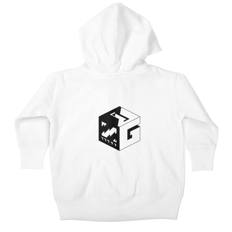 GOSU Cube (Black Logo) Kids Baby Zip-Up Hoody by GamersOfOSU's Artist Shop